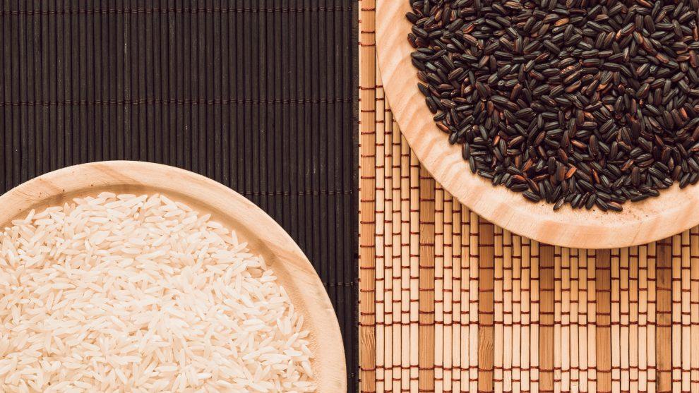 Benefícios do arroz branco, preto e integral