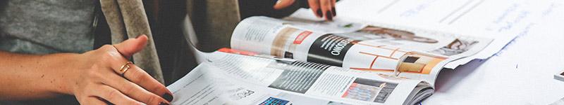 Divulgar seu empório em revistas e tabloides